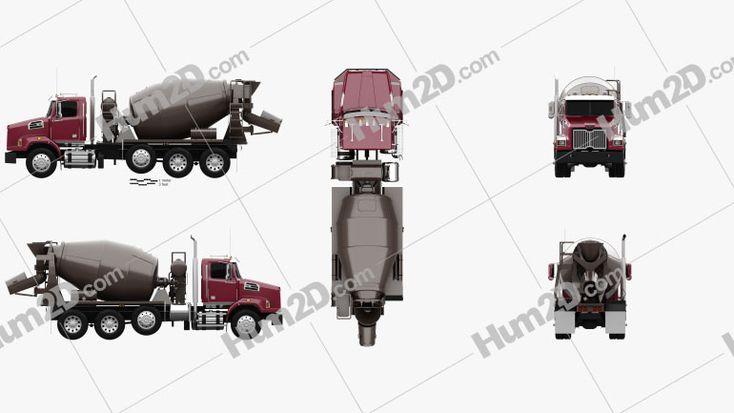Western Star 4700 Set Back Mixer Truck 2011 Clipart Mixer Truck Clip Art Trucks