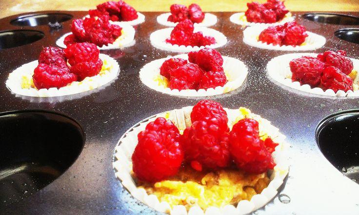 malinové muffins