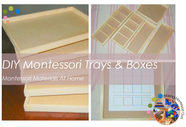 """Making Montessori Ours"": DIY Montessori Work Trays & Boxes, Montessori Materials At Home"