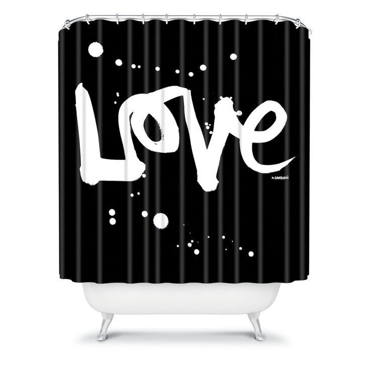 deny designs home accessories kal barteski love black shower curtain