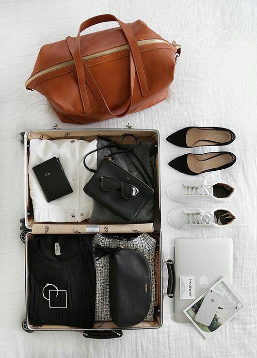 Minimalist but stylish packing » digital nomad lifestyle, location independence, and travel tips