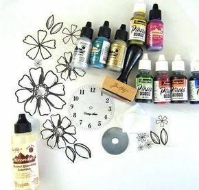 Alcohol ink basics – how to, transparencies, blending, painting, metal