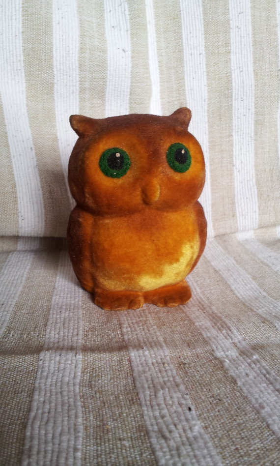 Vintage Soviet toy Owl collect play Made in by Sovietcoffer, $7.00