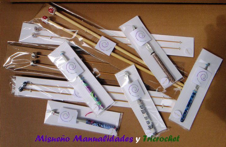 Agujas de media y ganchillo decorados con Fimo. www.misuenyo.com / www.misuenyo.es