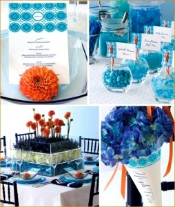 blue! normally wouldn't think of this bright of a color for a wedding but its gorgeous. #wedding - #matrimonio in blu