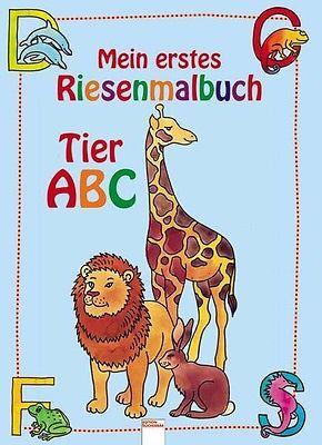 BUCH - Mein erstes Riesenmalbuch. Tier ABC - Brigitta Nicolas