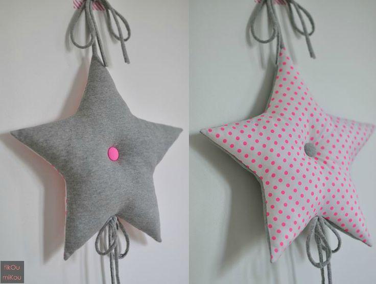 coussin étoile à suspendre by fikOu miKou