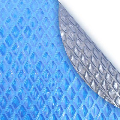 Pool Mate Deluxe Oval Above Ground Pool Solar Blanket - Silver/Blue - 1530S-8SBD BOXPM, Durable