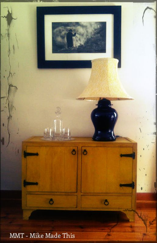 Yellow Paint Effect Cabinet - could be modified for use as a media centre / Plasma TV stand in various colours and finishes. www.mikemadethis.co.za