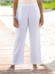 Plus Size Cotton Gauze Pants
