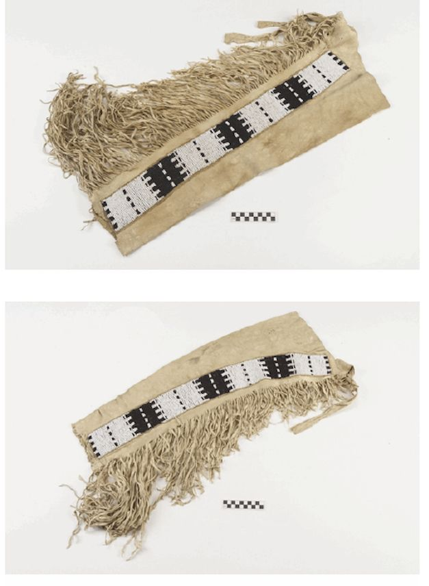 Sioux leggings coll. by Agent Twiss at Ft Laramie ca 1855.  NMAI