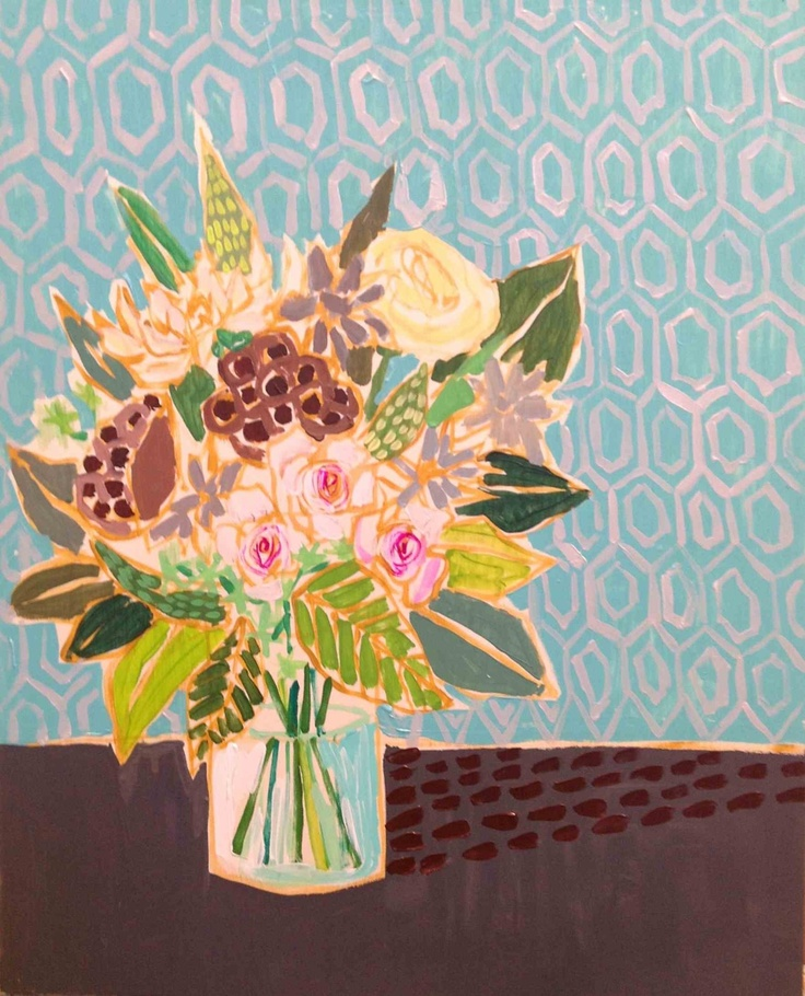 Love this piece.: Arty Painty, Lulie S Art, Art Blog, Lulie Wallace, Art Floral, Painting Ideas, Flowers, Graphic Wallpaper, Life Painting