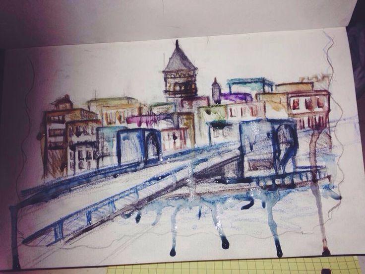 İstanbul'u çizgilerle değil, renklerle mutlu çizmek lazım. Biraz da ağlatmak lazım.