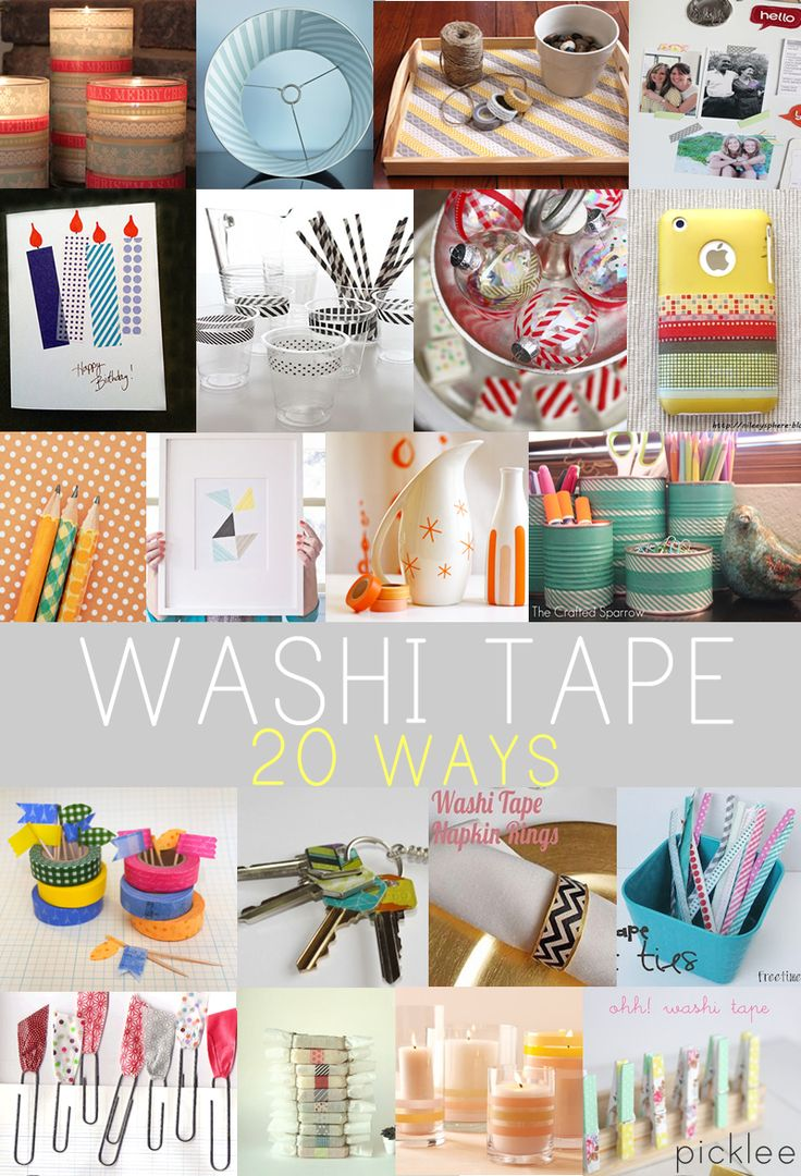 20 Washi Tape Projects and Crafts DIY