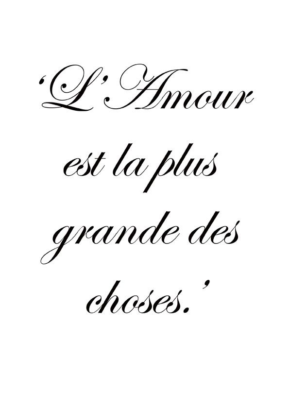 Attrayant Love Is The Greatest Thing ~ Citation Français ~