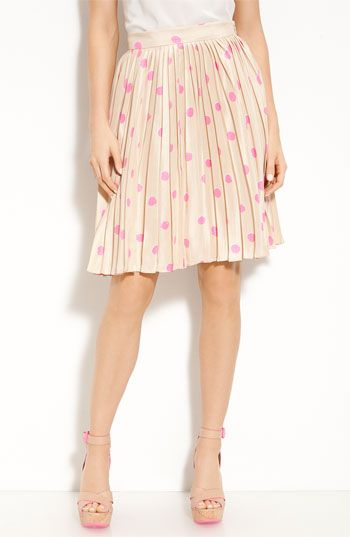 kate spade new york 'melody' print silk skirt