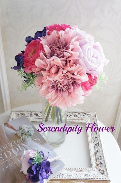 Serendipity Flower(セレンディピティフラワー) ダリアとモカラのクラッチブーケ♡