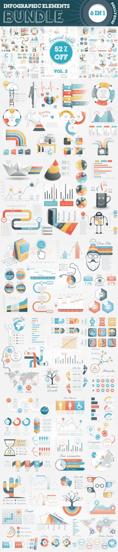 @newkoko2020 Infographic Elements Bundle by Infographic Paradise on @creativemarket