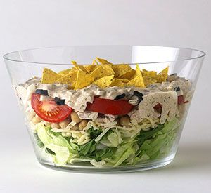 Fiesta Chicken SaladMaine Dishes, Chicken Salads, Fiestas Salad, Fiestas Chicken, Food, Chicken Fiestas, Layered Chicken, Chicken Salad Recipes, 24 Hour Chicken