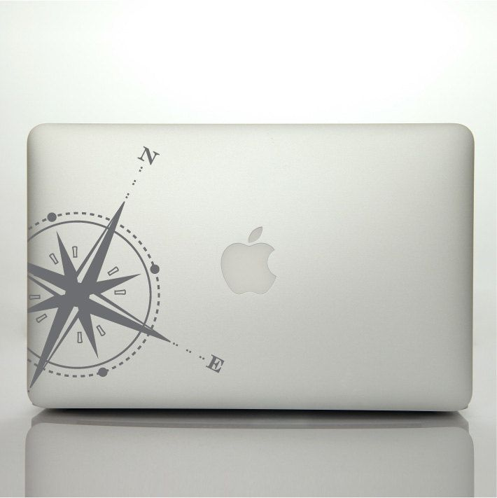 Laptop Decal Compass rose Design | Nautical Travel Explore Decal | Laptop Skin Vinyl Sticker | Adventure Macbook Decal | Laptop Sticker by FixateDesigns on Etsy
