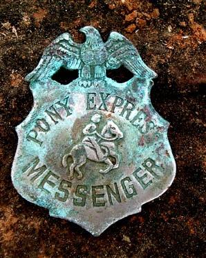 Vintage Pony Express Badge...wow