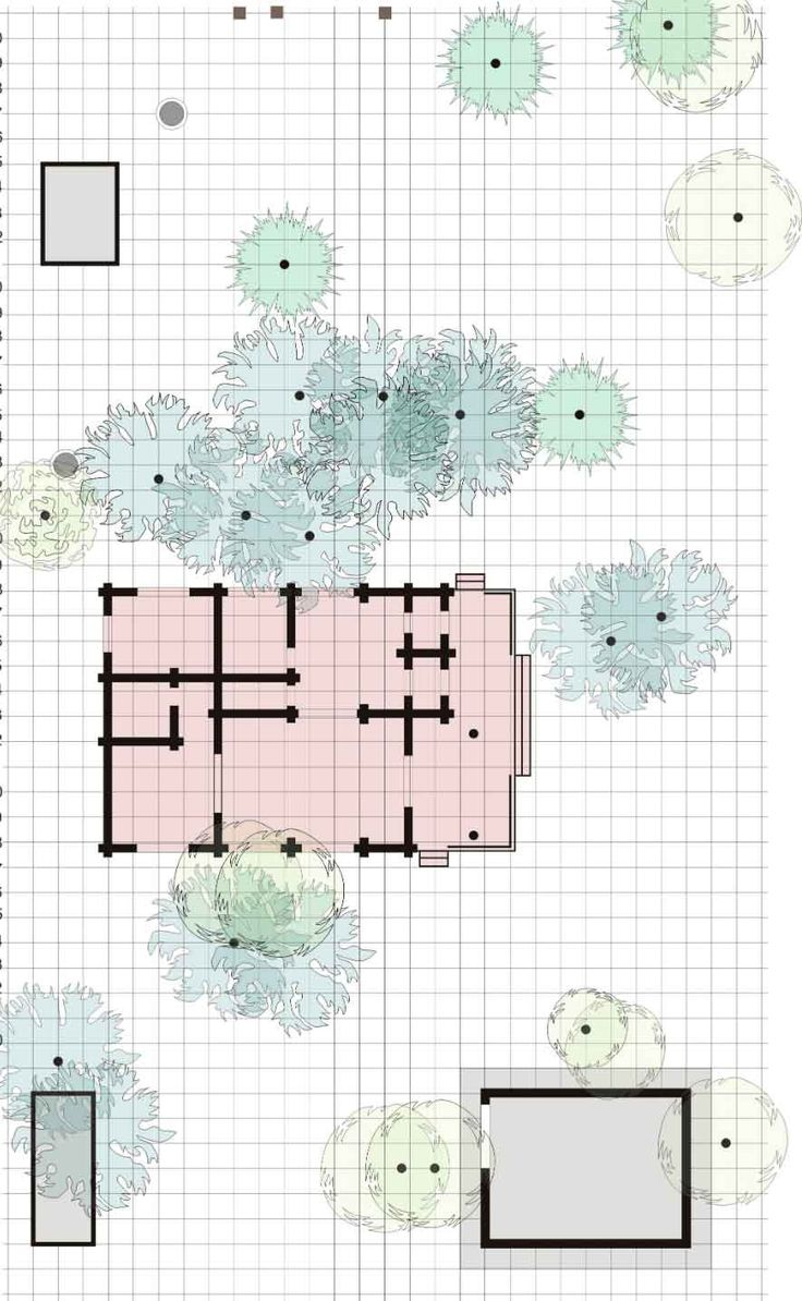 Проект Генеральный план участка - чертеж Существующее положение