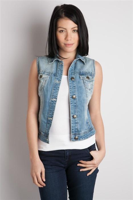 veste en jean sans manche homme rock les vestes la mode sont populaires partout dans le monde. Black Bedroom Furniture Sets. Home Design Ideas