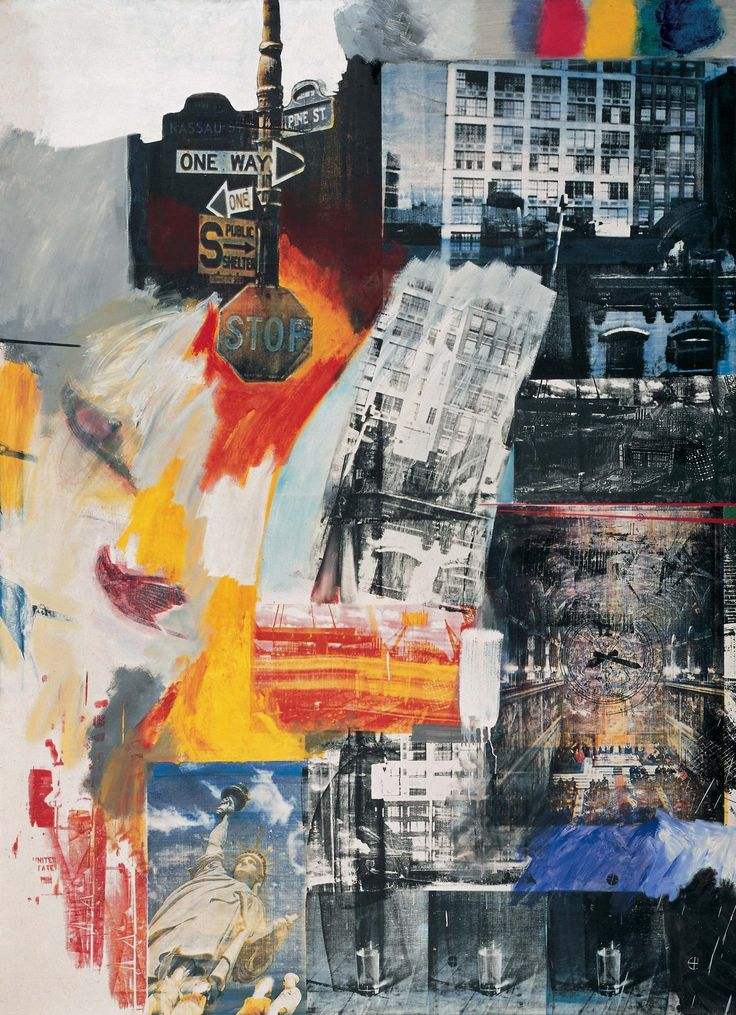 Estate | Robert Rauschenberg  |  Oil and silkscreen on canvas | Philadelphia Museum of Art