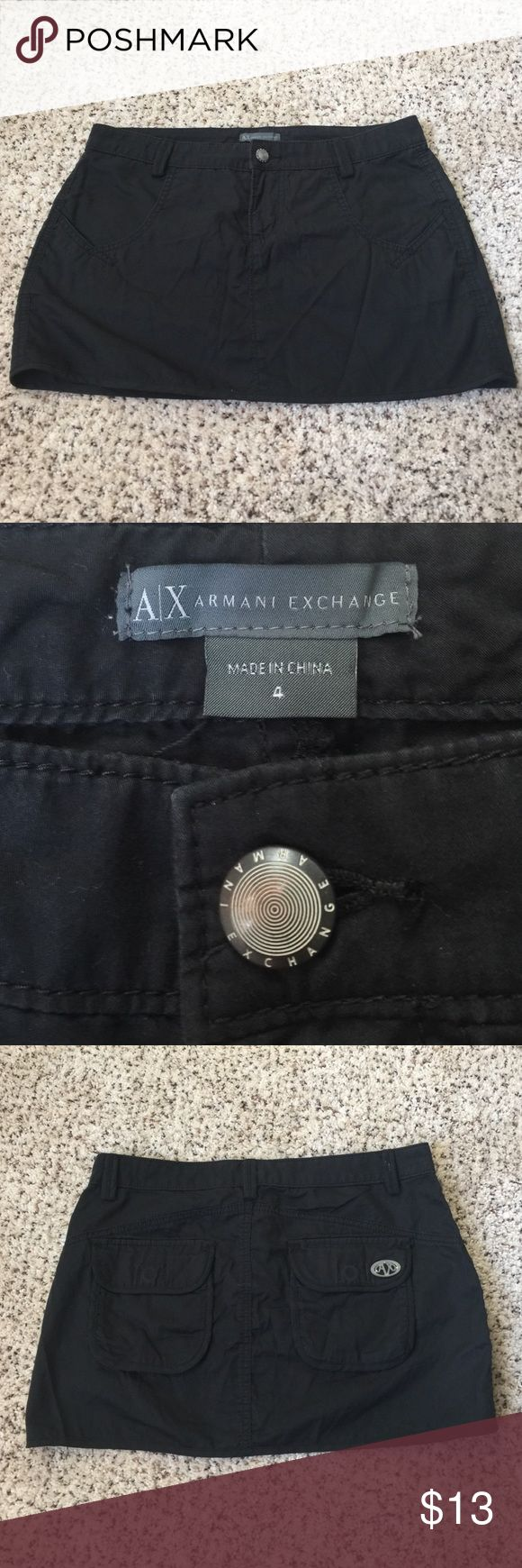 Armani Exchange Skirt Size 4 Armani Exchange Skirt. 100% Cotton A/X Armani Exchange Skirts Mini