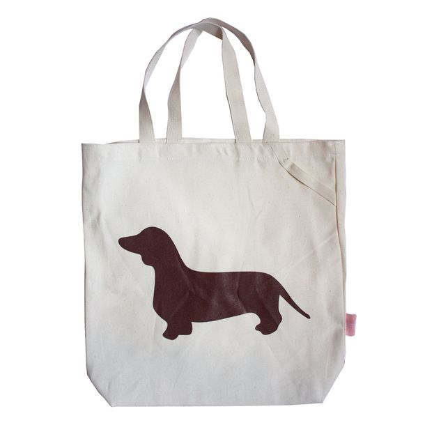 Dachshund Tote Bag - Brown