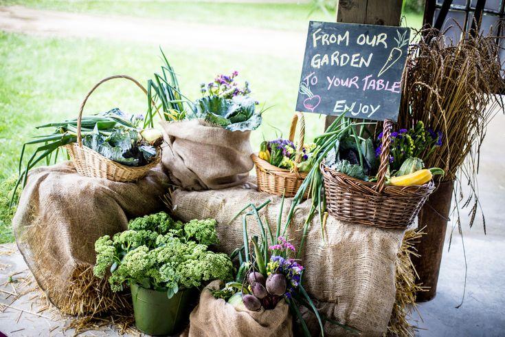 Ontario Wedding, Edible Decoration, Wedding vegetable garden,