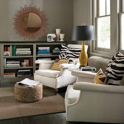 Bright seating | Benjamin Moore Sparrow #design #decor #interiordesign #interiordecor