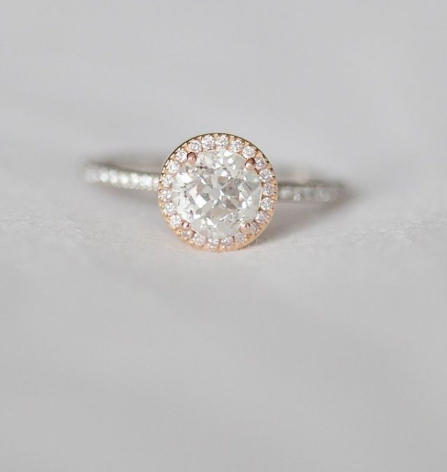 pre-engagement or just because... rose and white gold ring