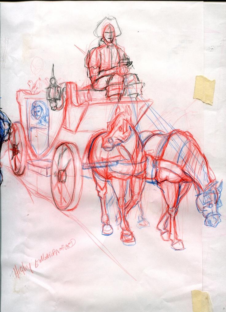 A sketch idea for a customer's child. book. The sleepy Princess
