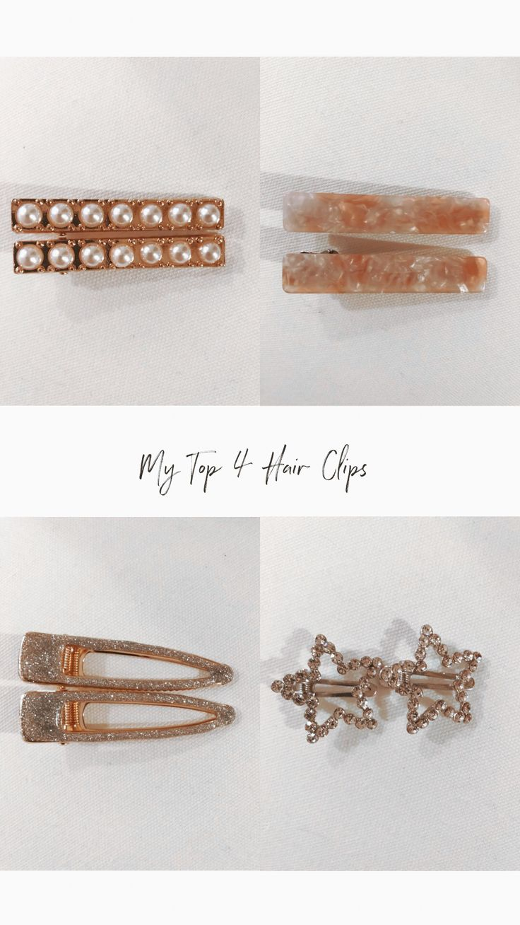 My top 4 hair clips