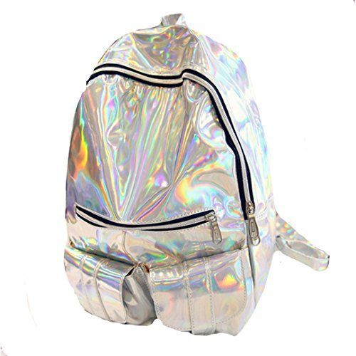 New Trending Luggage: Orfila Fashion Holographic Pu Leather Backpack Bling Glitter Casual Daypack Laser School Backpack, Silver. Orfila Fashion Holographic Pu Leather Backpack Bling Glitter Casual Daypack Laser School Backpack, Silver   Special Offer: $22.99      188 Reviews Product Features: 1.This is a stylish Hologram PU Leather Daypack for girl,A stylish design backpack, deeply fashionable ladies of all ages, you...