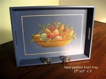 Barn Wood Hand Painted Serving Trays,