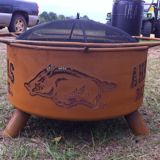 Our New Firepit Just In Time For Fall Ball Woo Pig