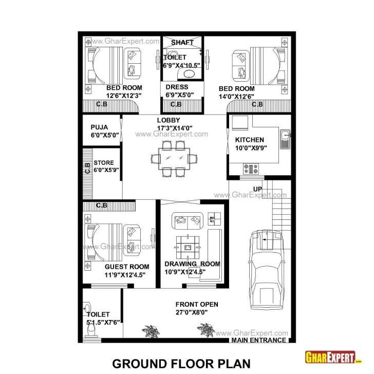 Good House Plan For 35 Feet By 50 Feet Plot Plot Size 195 Square Yards 20 50 House Plan 4 Bhk Photo Hou Budget House Plans 2bhk House Plan 30x50 House Plans