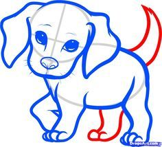 how to draw a beagle puppy, beagle puppy step 6