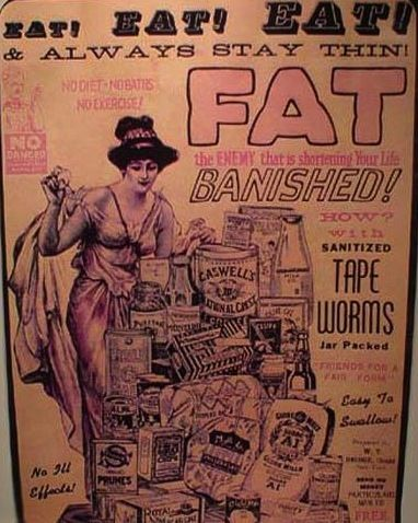 Tapeworm dieting advertisement