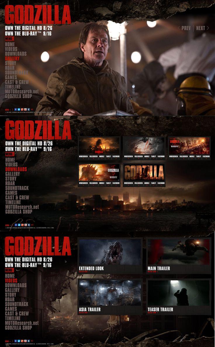 http://www.godzillamovie.com/  De rode elementen vallen hier hard op, wat een aantrekkelijk effect heeft. De site is donker opgesteld en dat geeft zowat het einde-van-de-wereld gevoel. Er zitten ook geluidseffecten bij, die het gevoel van godzilla nog meer versterken.