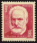 Cinquantième anniversaire de la mort de Victor Hugo 1802-1885 - Timbre de 1935