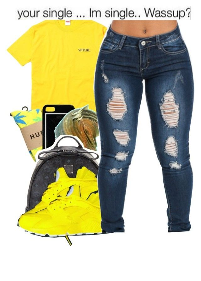 """""""Untitled #106"""" by babygirlnia14 ❤ liked on Polyvore featuring HUF and MCM"""