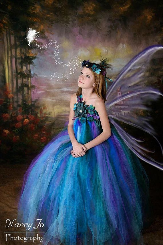 3bad24906 Peacock Fairy Dress / Festival Clothing / Fairy / Princess. Find this Pin  and more on Renaissance themed wedding ...