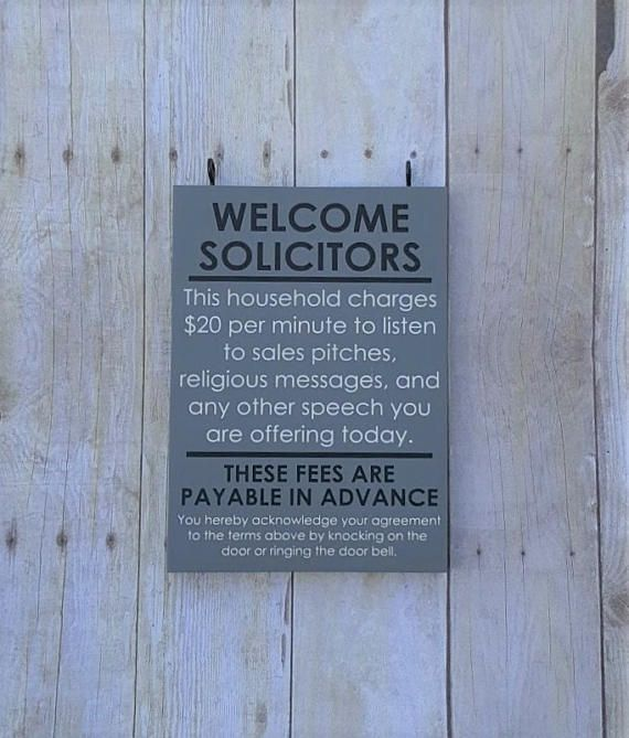 Welcome Solicitors  No soliciting sign  No solicitation sign