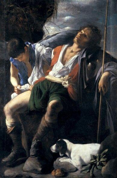San Rocco curato dall'Angelo. 1604-1605.  Galleria Doria Pamphilj. Roma.