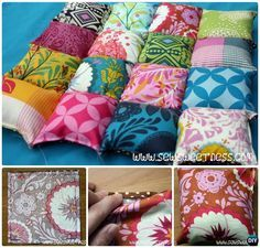DIY Puff Bubble Blanket Biscuit Quilt Chair Cushion Sew Pattern Instruction #Sew