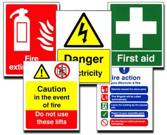 Exit, Health, and Safety Signs in the Workplace