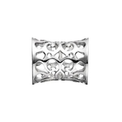 Kranz & Ziegler Story Button with Design – Sterling Silver